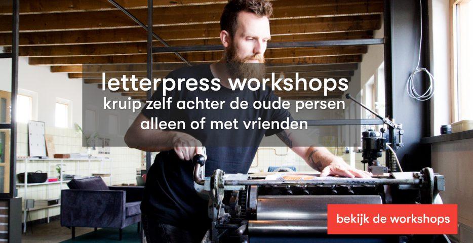 creatieve workshop noord Limburg letterpress bij karakter prints spanningen