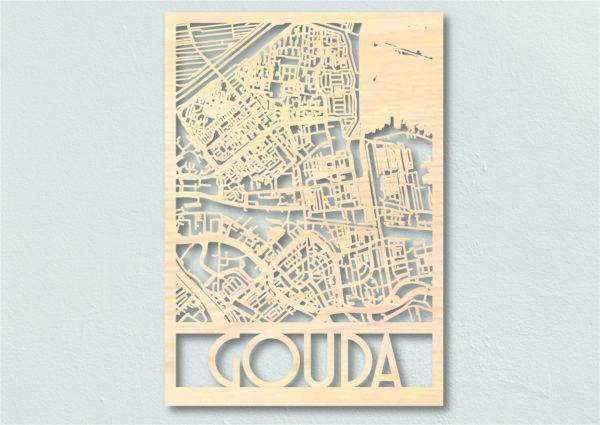 plattegrond hout Gouda