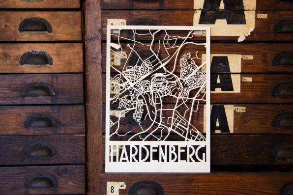 houten plattegrond Hardenberg