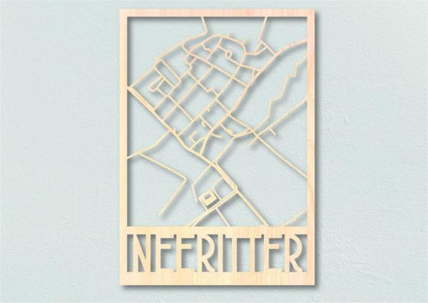 Plattegrond Neeritter gemaakt uit hout