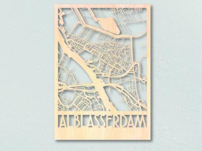 Plattegrond hout Alblasserdam