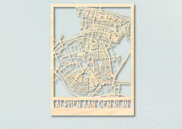 houten plattegrond Alphen aan den Rijn