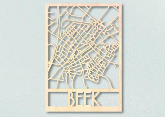 beek houten plattegrond