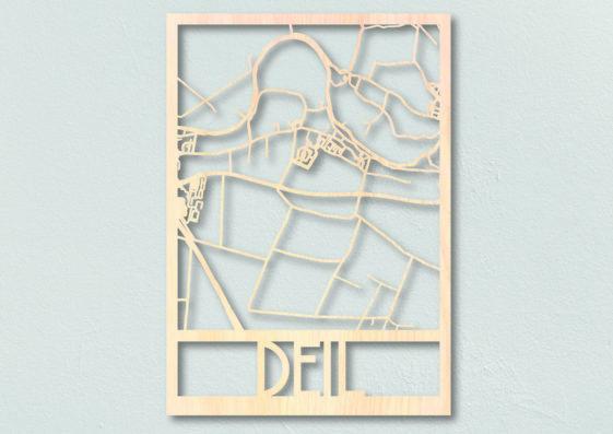 houten plattegrond deil dorpsplattegrond