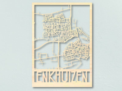 Houten plattegrond Enkhuizen