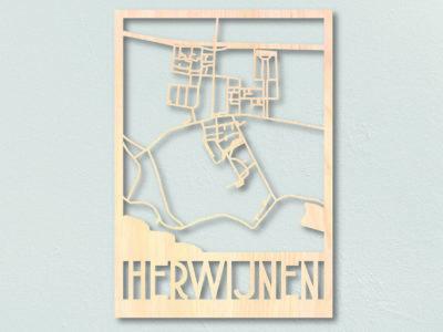 houten plattegrond herwijnen