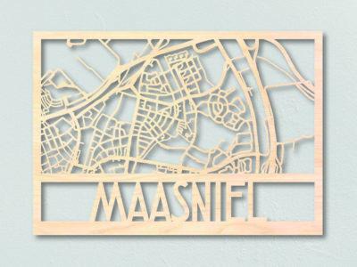 Maasniel houten plattegrond