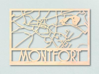 Plattegrond Montfort gemaakt uit hout
