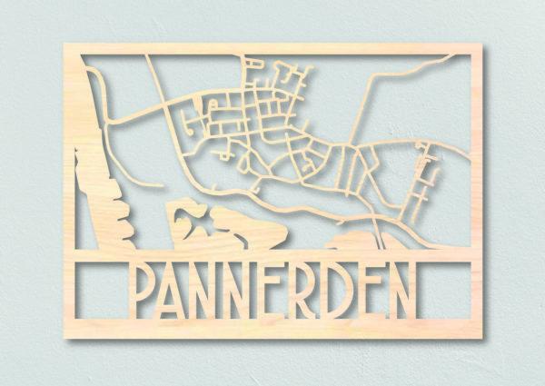 houten dorpsplattegrond Pannerden