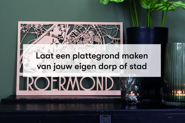 houten stadsplattegrond of dorpsplattegrond laten maken