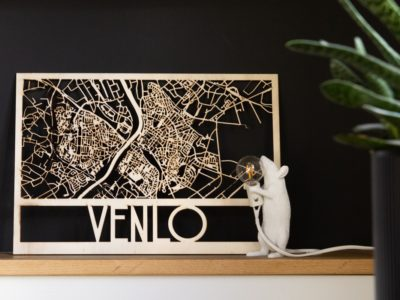 houten plattegrond laser stad venlo