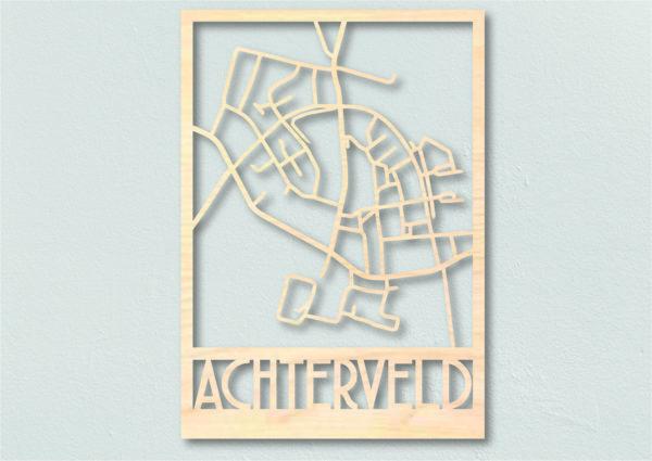 Landkaart Hout Plattegrond Achterveld