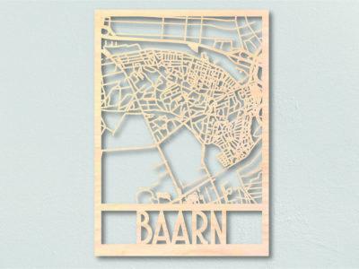 Landkaart Hout Plattegrond Baarn