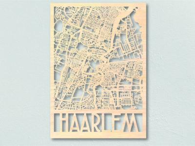 Haarlem stadsplattegrond hout