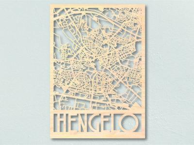 landkaart hout Hengelo