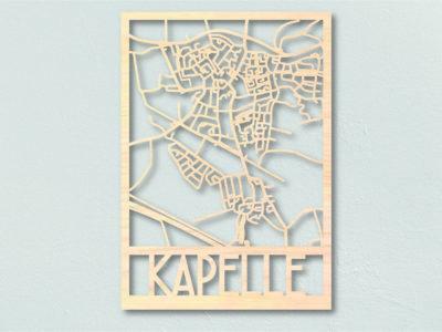 Landkaart Hout Kapelle Plattegrond