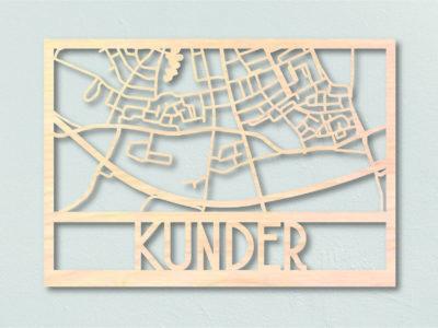Landkaart Hout Plattegrond Kunder