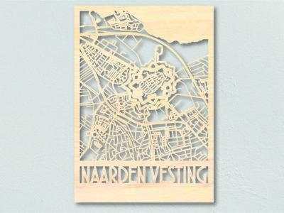 Landkaart Hout Plattegrond Naarden Vesting