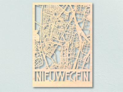 Nieuwegein landkaart hout