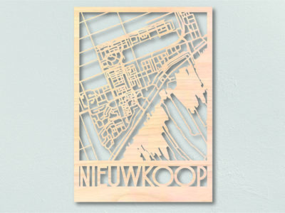Landkaart Hout Plattegrond Nieuwkoop