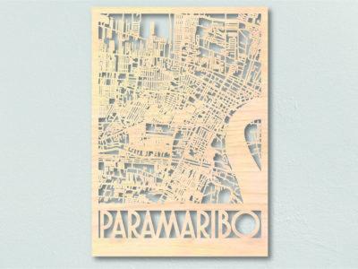Landkaart Hout Plattegrond Paramaribo