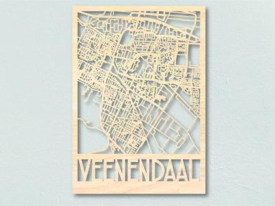Landkaart Veenendaal Hout Plattegrond