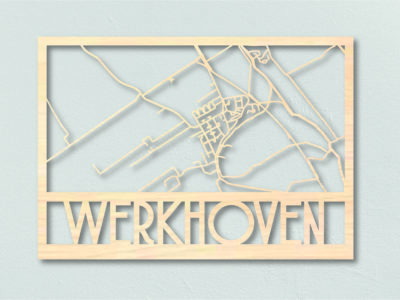Landkaart Werhoven Hout Plattegrond