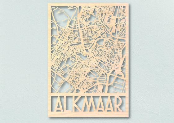 Landkaart Hout Plattegrond Alkmaar