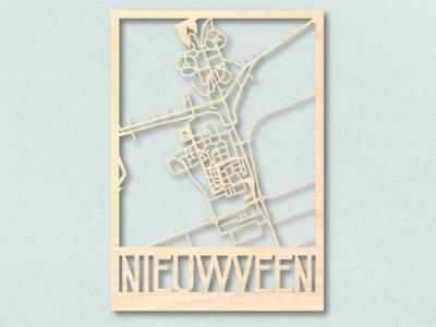 Landkaart Hout Plattegrond Nieuwveen