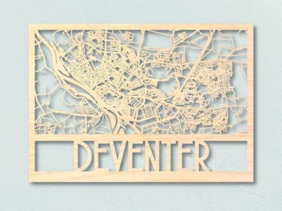 Landkaart Hout Deventer Stadsplattegrond