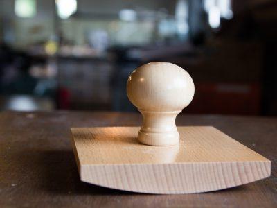 Handstempels groot hout wiegstempel