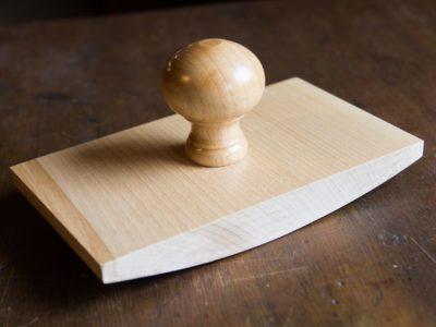 Grote rechthoekige stempel laten maken wiegstempel van hout