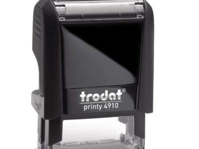 Trodat Printy 4910 stempel zwart zelfinktend kantoorstempel