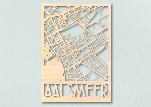 Aalsmeer Landkaart hout