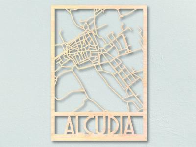 Landkaart hout Alcudia