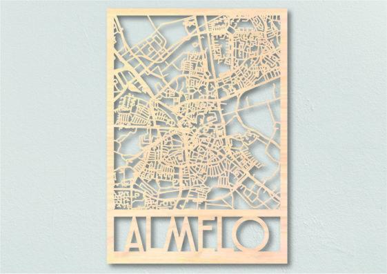 Landkaart hout Almelo