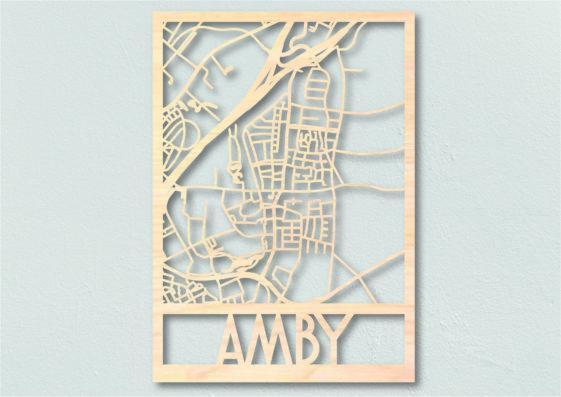 Landkaart hout Amby