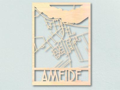 Landkaart hout Ameide