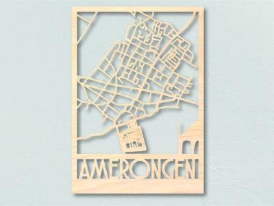 Landkaart hout Amerongen