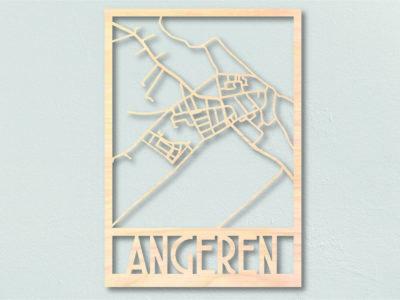 Landkaart hout Angeren