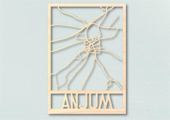 Landkaart hout Anjum