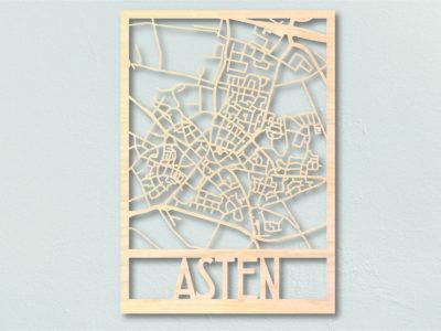 Landkaart hout Asten