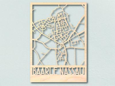 Landkaart Hout Baarle Nassau