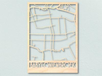 Babyloniënbroek Landkaart Hout