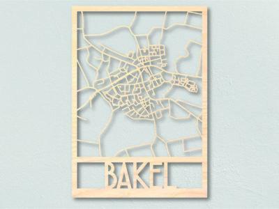 Landkaart Hout Bakel