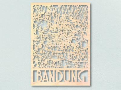 Landkaart Hout Bandung