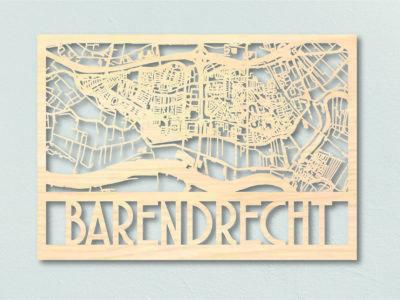 Barendracht Landkaart Hout