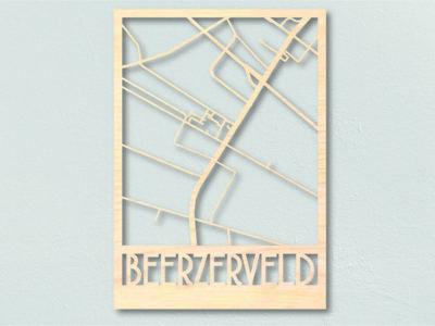 Landkaart Hout Beerzerveld