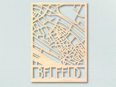 Landkaart Hout Belfeld