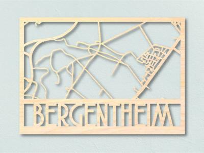 Bergentheim Landkaart hout